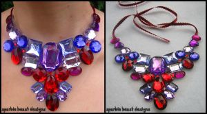 Lavender and Red Necklace by Natalie526