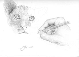 Drawing Hand by MisterLopes