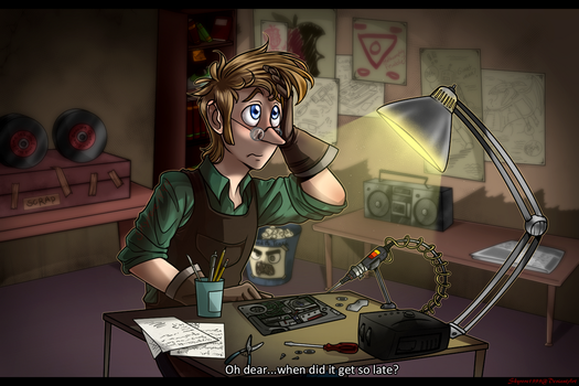 Fiddleford in his Workshop by skyrore1999