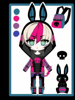 Punk bunny adoptable CLOSED by AS-Adoptables
