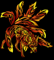 Fire Nine-Tailed Fox by ARegnant