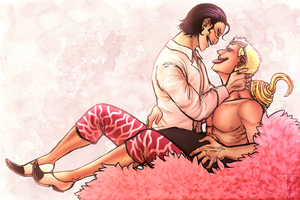 Doflamingo and Sir Crocodile by Deer-Head