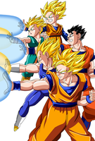 Saiyans Attack Color 2 by BoScha196