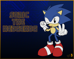 Retro-Sonic wallpaper by Fireball-Flamery