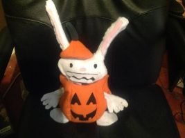 Plushie Max Decked Out In His Halloween Duds by JenniBee