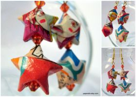 Lovely Complex Origami Earring by roserevolution