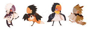 BirdFolk Adopt Set 8 CLOSED {POINTS ACCEPTED} by Kel-Del