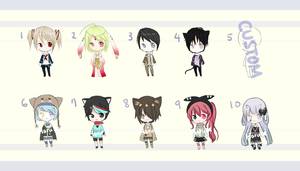 [1 LEFT] 100 pts. Adoptable Batch #1 by Harutsuki-Adopts