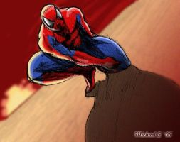 spiderman sunset by mxmx