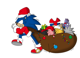 Christmas Gift - Sonic and... the Heavy Bag! by Stevethecheetah