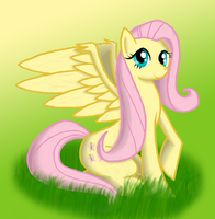 Painted Fluttershy by Xain-Russell