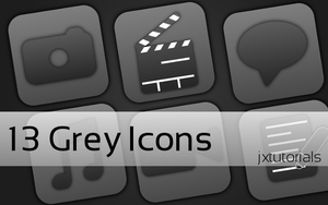 Grey Icons by jxtutorials