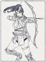Girl Archer by carldraw