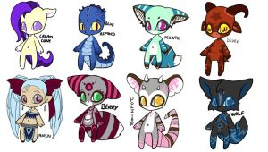 chibi adoptables CLOSED by SquidPuke