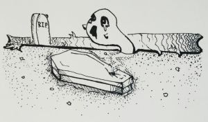 Inktober day 3: Coffin by ImaLittleCreeper