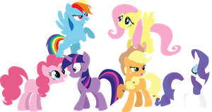The Mane 6 Simplified by SundownGlisten