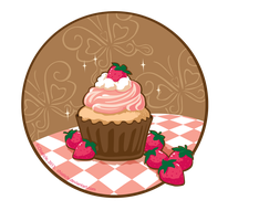 Juicy Strawberry Cupcake by Chiaticle