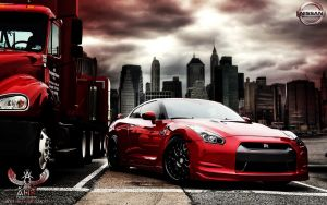 Nissan GT-R - The Red Dragon by AHK by AbdollahHamodzadeh