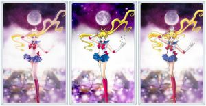Sailor Moon Kanzenban Cover Comparison by xuweisen