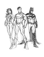 Justice League in Progress by randomality85