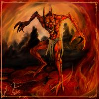 Creature of Fire 1 by RoyDante