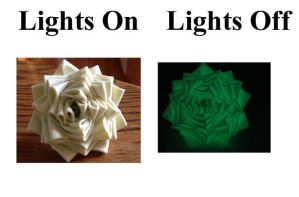 Glow in the Dark Duct Tape Flower Ring by LishaChan