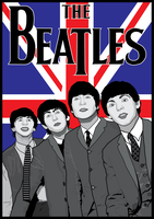 The Beatles British Poster by MD3-Designs