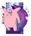 Clefable and Gengar by Ishida1694