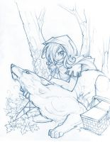 Little Red Riding Hood Sketch by Neekou