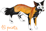 Cross fox Adoptable - SOLD by StanHoneyThief