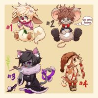 Animal Adoptable Set [open] by icurunin