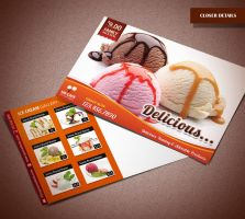 Ice Cream Shop Postcard by Saptarang