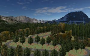 Country Woods Race Track mmd Stage by 32Rabbit