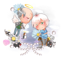 :HBD: Grandma's Guardian Angels by XMireille-chanX