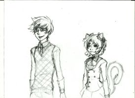 Nepeta and John Datingsims concept art by LeijonNepeta