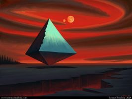 Moon Pyramid by Tesparg