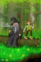Bilbo and Gandalf by jRace