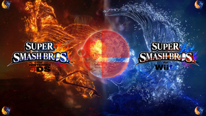 Super Smash Bros. Wii U/3DS Logo Wallpaper #36 by TheWolfBunny