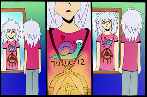 Bakura's new Tshirt by indecisivepancake