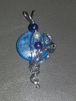 Blue Wire Wrapped Bead by ScoopGirl