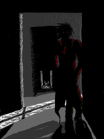 Red Silhouette by Depsycho