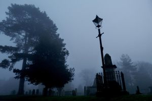 Graves Amidst The Fog by Demonic-NiK