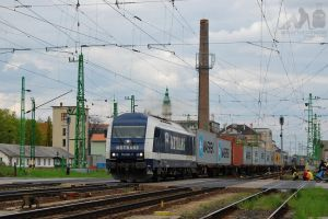 761 001 with container train in Gyor by morpheus880223