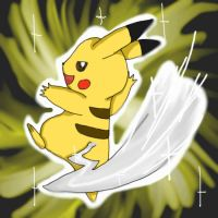 Pikachu using iron tail by LkikiL