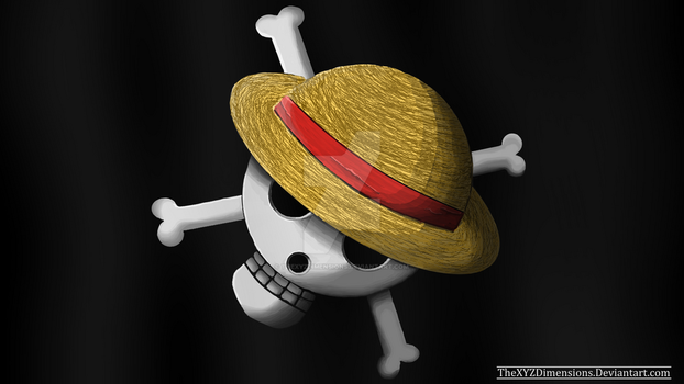 One Piece: Realistic Strawhat Pirate flag by TheXYZDimensions