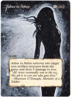 Magic Card Alteration: Ashes to Ashes 10-7 by Ondal-the-Fool