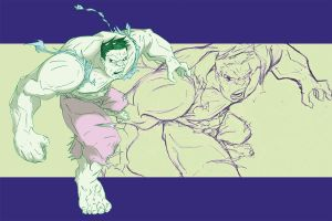 hulk smash art by miabu