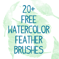 Watercolor Feather Brushes Photoshop CS7 by smyhls