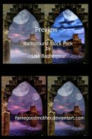 Castle Background Stock Pack by FairieGoodMother