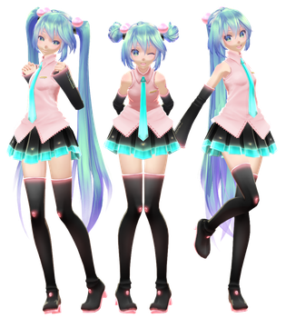 TDA Puchi Miku Default [DOWNLOAD] by NEPHNASHINE-P
